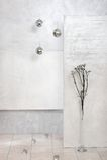 Abstract interior. Fashion abstract silver apartment interior Stock Image