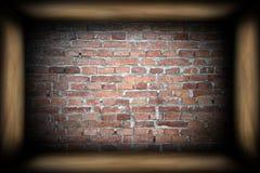 Abstract interior backdrop with brick wall Stock Photos