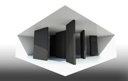 Abstract Interior Background. With black partition Stock Photos