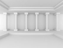 Abstract Interior Background With Columns. 3d Render Illustration Stock Image