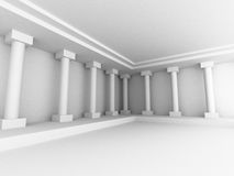 Abstract Interior Background With Columns. 3d Render Illustration Royalty Free Stock Image