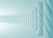 Abstract Interior Background. 3d Illustration of Blue Abstract Architecture Background Stock Image