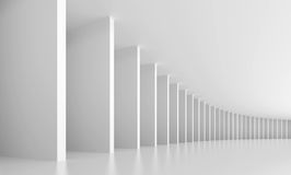 Abstract Interior Background. 3d Illustration of White Abstract Interior Background Stock Photography