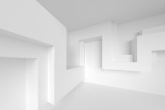 Abstract Interior Background. 3d Rendering. White Architecture Construction. Abstract Interior Background. 3d Rendering Royalty Free Stock Images