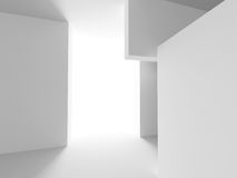 Abstract Interior Background. Futuristic Architecture Royalty Free Stock Images