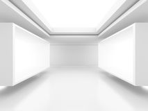 Abstract Interior Background. Futuristic Architecture Stock Image