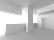 Abstract Interior Background. Futuristic Architecture Royalty Free Stock Photo
