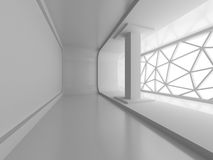 Abstract interior With Big Window Stock Photo