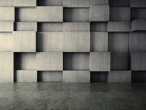 Abstract interior of concrete wall background. 3d created Stock Image