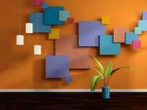Abstract interior conposition Royalty Free Stock Image