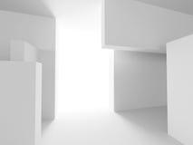 Abstract Interior Design. Architecture Background. 3d Render illustration vector illustration