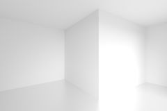 Abstract Interior Design. 3d Abstract Interior Design. White Empty Room Stock Photography