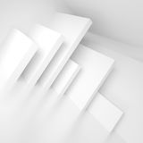 Abstract Interior Design. White Background. 3d Rendering. Creative Web Wallpaper Royalty Free Stock Image