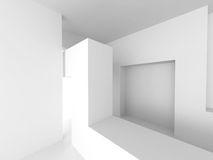 Abstract Interior Design. White Modern Architecture Background Royalty Free Stock Image