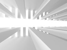 Abstract Interior Design. White Modern Architecture Background Royalty Free Stock Photos