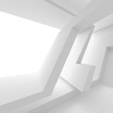 Abstract Interior Design. White Modern Background Royalty Free Stock Photos