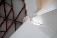Abstract interior. Interesting ceiling and columns Stock Photos