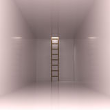 Abstract Interior with Ladder Royalty Free Stock Image