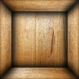 Abstract interior of plywood box Royalty Free Stock Photo
