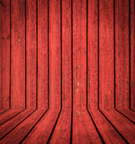Abstract interior of red woodem room Stock Photo