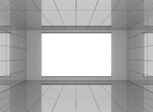 Abstract interior in room with blank white background Stock Photography