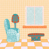 Abstract interior room in bright colors Stock Image