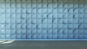 Abstract interior scene. 3d abstract interior scene with wall from concrete Stock Image