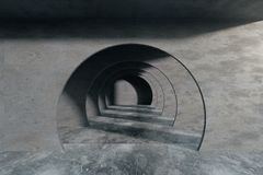 Abstract interior with tunnel royalty free illustration