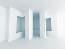 Abstract Interior White Architecture Background. 3d Render Illustration Stock Image