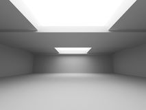 Abstract Interior White Architecture Background. 3d Render Illustration Royalty Free Stock Image