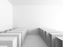 Abstract Interior White Architecture Background Royalty Free Stock Images