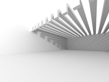 Abstract Interior White Architecture Background. 3d Render Illustration Stock Images