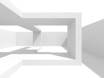 Abstract Interior White Architecture Background. 3d Render Illustration Royalty Free Stock Photos