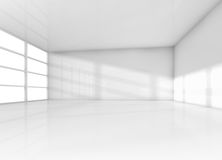 Abstract interior, white empty room with daylight Stock Images