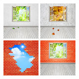 Abstract interiors set Stock Image