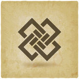 Abstract interlocking squares vintage background. Vector illustration - eps 10 stock illustration