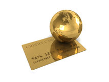 Abstract international gold credit card Stock Images