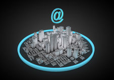 Free Abstract Internet City Stock Photography - 21030822