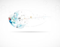 Abstract internet computer technology business solution. Abstract futuristic circuit high computer technology business background Royalty Free Stock Photography