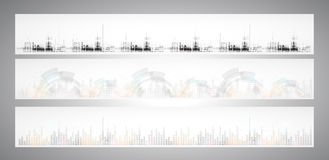 Abstract internet computer technology business solution banner Stock Photo
