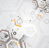 Abstract internet computer technology business solution. Abstract futuristic circuit high computer technology business background Royalty Free Stock Images