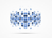 Abstract internet computer technology business solution. Abstract global infinity computer  technology concept business background Stock Images
