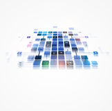 Abstract internet computer technology business solution. Abstract global infinity computer  technology concept business background Royalty Free Stock Photos
