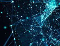 Abstract internet connection network background with motion effects. Futuristic abstract internet connection network background with motion effects stock photography