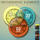 Abstract intersection infographics Stock Photos