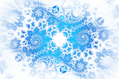 Abstract intricate blue spirals on white background. Royalty Free Stock Photography