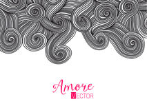 Abstract invitation card with abstract wave. Template wavy frame design for card, banner on wood. Stock Images