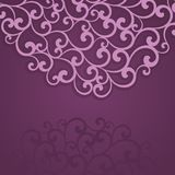 Abstract invitation card. Curl background Stock Images