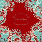 Abstract invitation card. Template frame design for card. Lace doily Stock Photo