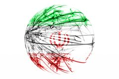 Abstract Iran sparkling flag, Christmas ball concept isolated on white background. Abstract Iran sparkling flag, Christmas ball concept isolated on white vector illustration